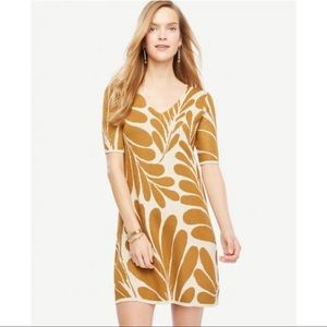 NEW Ann Taylor Leaf Sweater Dress